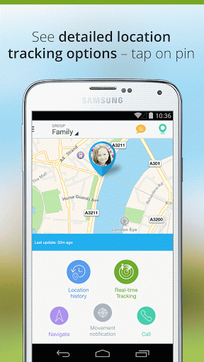 Скриншот Family Locator — GPS Tracker для Android