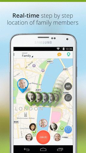 Скриншот Family Locator — GPS Tracker для Android