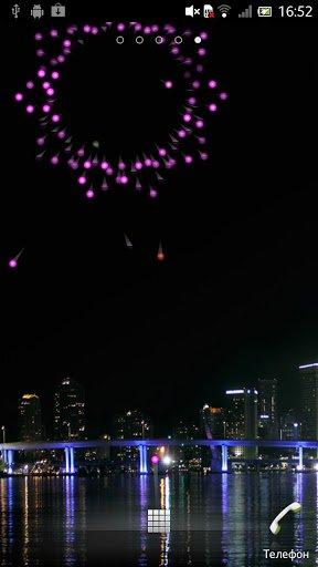 Скриншот Фейерверк Живые обои / Firework LWP для Android