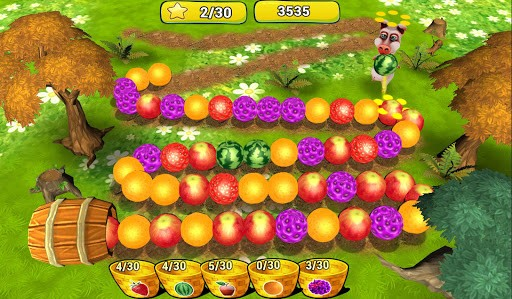 Скриншот Ферма Фрукты Три в Ряд для Android