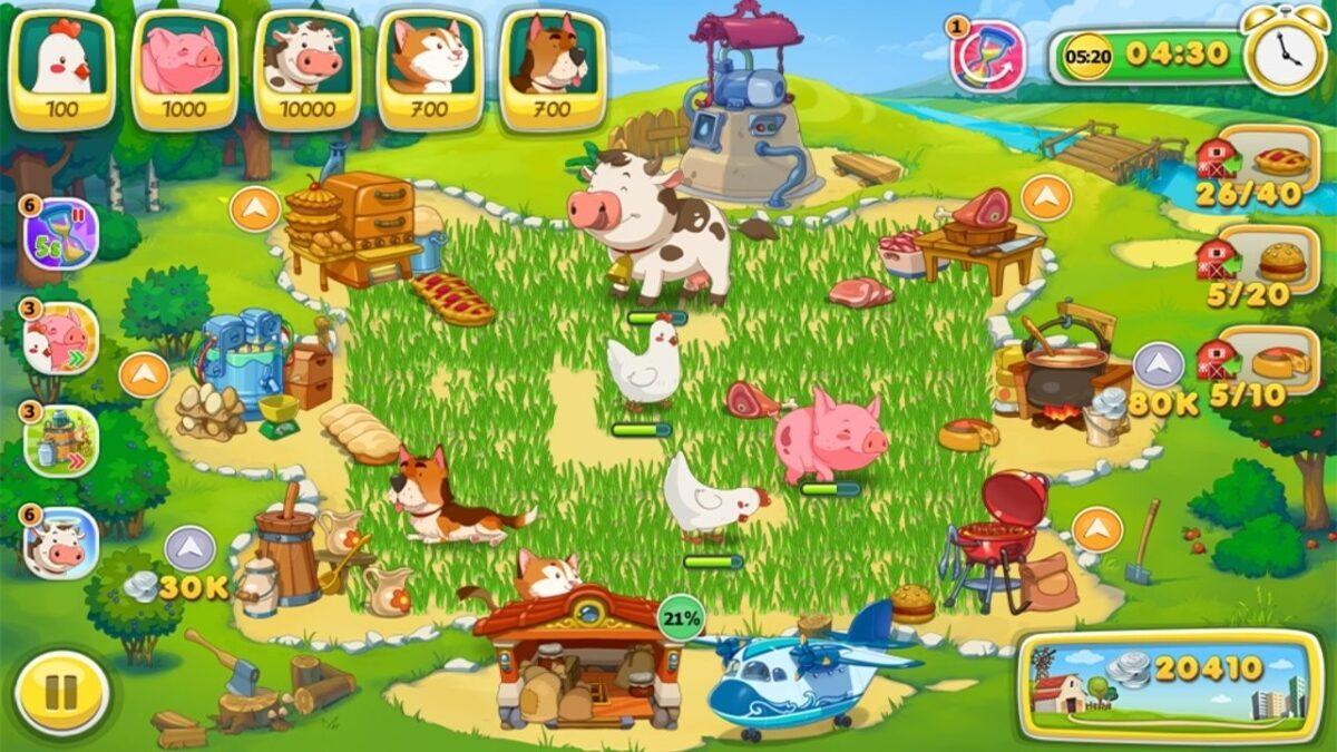 Скриншот Ферма Веселые Деньки для Android