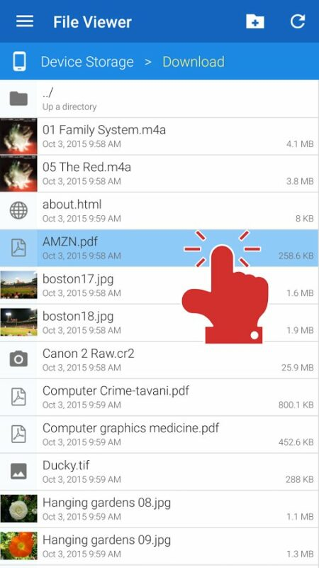 Скриншот File Viewer для Android
