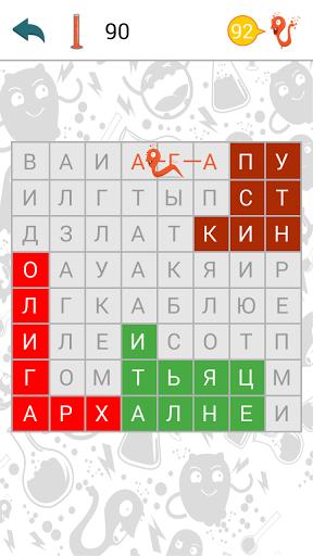 Скриншот Филворды: поиск слов для Android