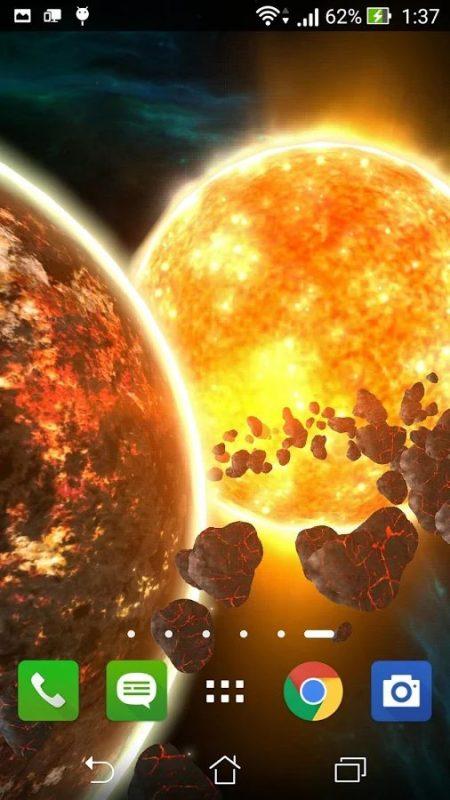 Скриншот Fire planet 3D XL для Android