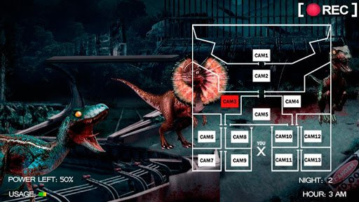 Скриншот Five Nights at Jurassic World для Android