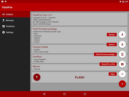 Скриншот FlashFire для Android