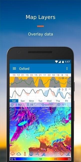 Скриншот Flowx (WeatherBomb) для Android