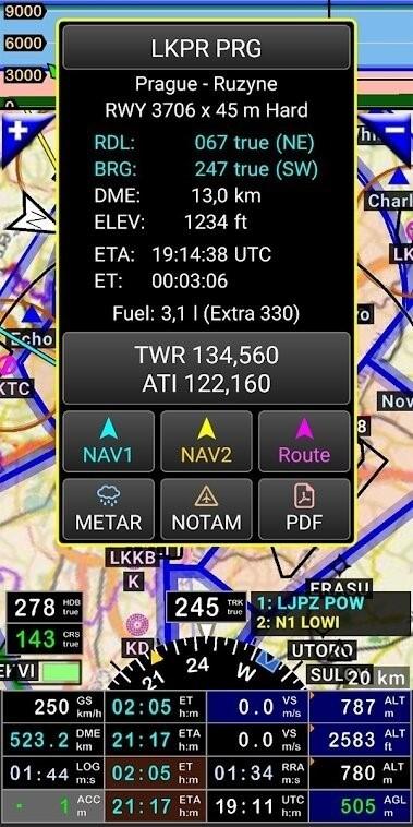 Скриншот FLY is FUN Aviation Navigation для Android