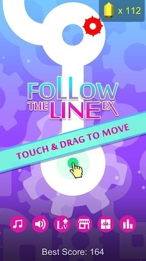 Скриншот Follow the Line EX для Android