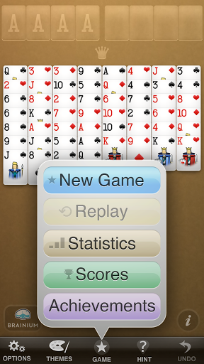 Скриншот FreeCell Solitaire для Android