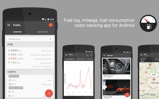 Скриншот Fuelio: топливо и расходы для Android