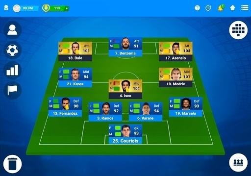 Скриншот Футбольный Онлайн Менеджер для Android