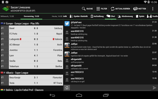 Скриншот футбол / Soccer Live Scores для Android