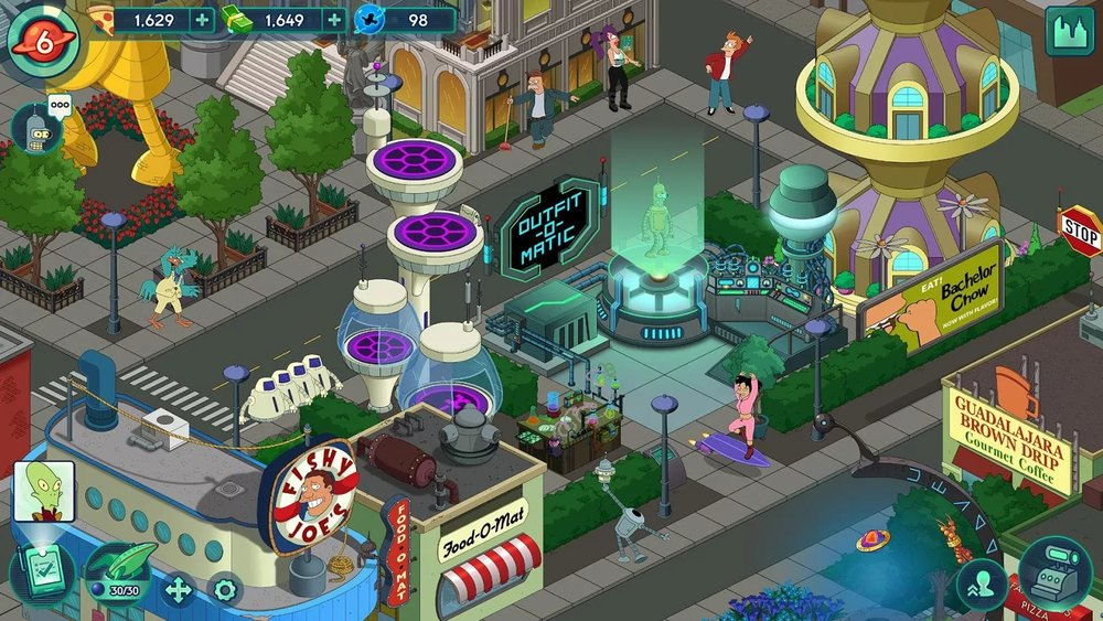 Скриншот Futurama: Worlds of Tomorrow для Android