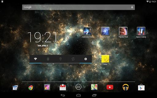 Скриншот Галактика живые обои для Android