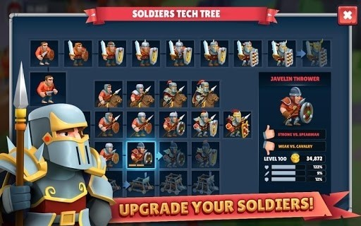 Скриншот Game of Warriors для Android