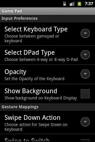 Скриншот GamePad для Android
