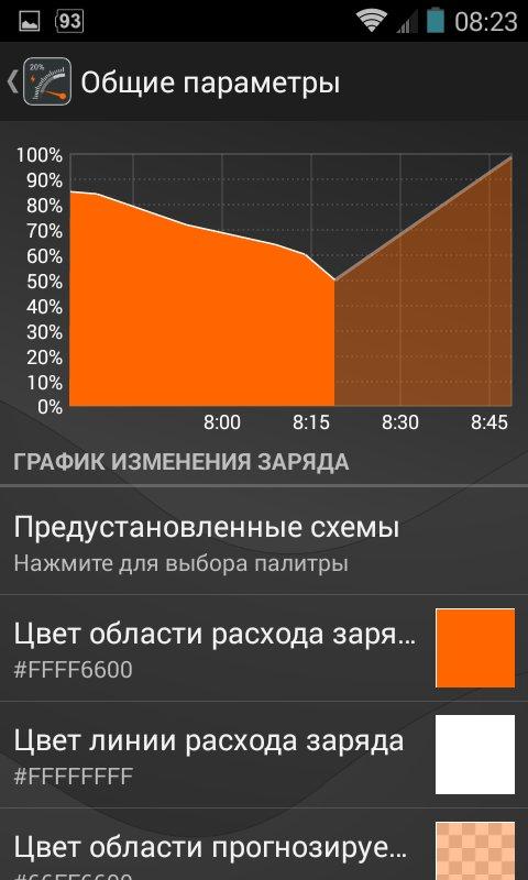 Скриншот Gauge Battery Widget для Android