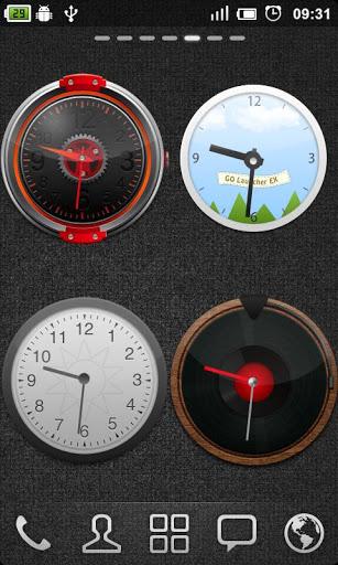Скриншот GO Clock Widget для Android