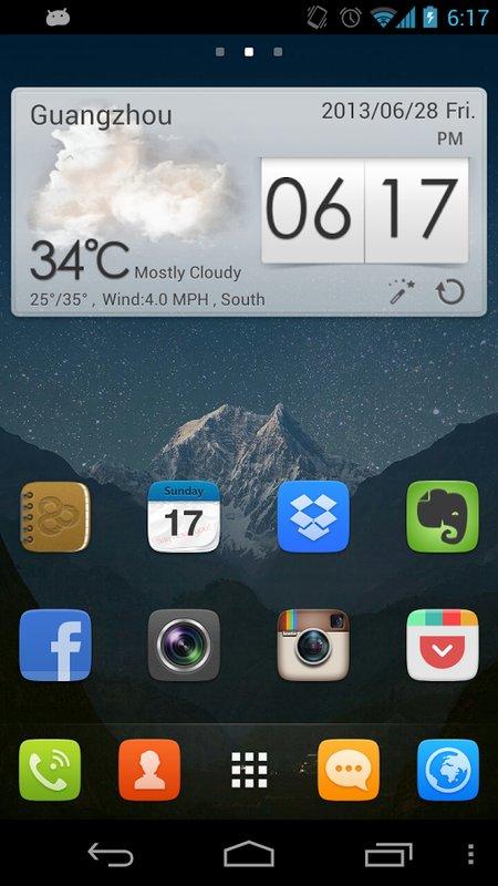Скриншот GO launcher EX для Android