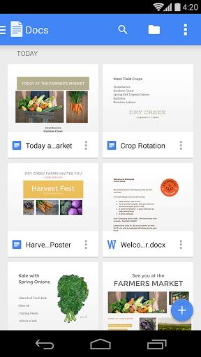 Скриншот Google Документы для Android
