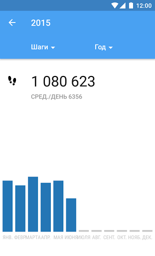 Скриншот Google Fit — фитнес трекер для Android