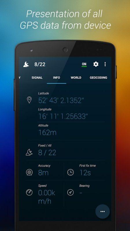 Скриншот GPS Data+ для Android