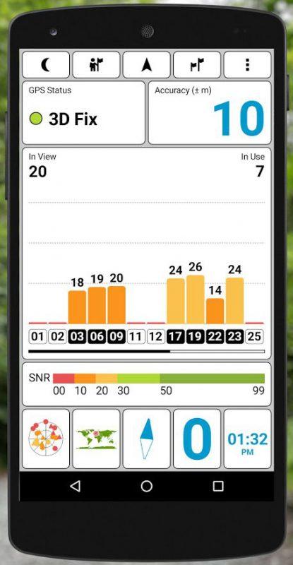 Скриншот GPS Test для Android