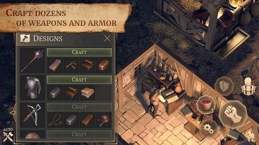 Скриншот Grim Soul: Dark Fantasy Survival для Android