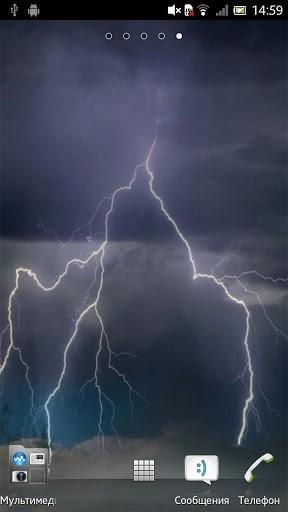 Скриншот Гроза Живые обои / Thunderstorm LWP для Android