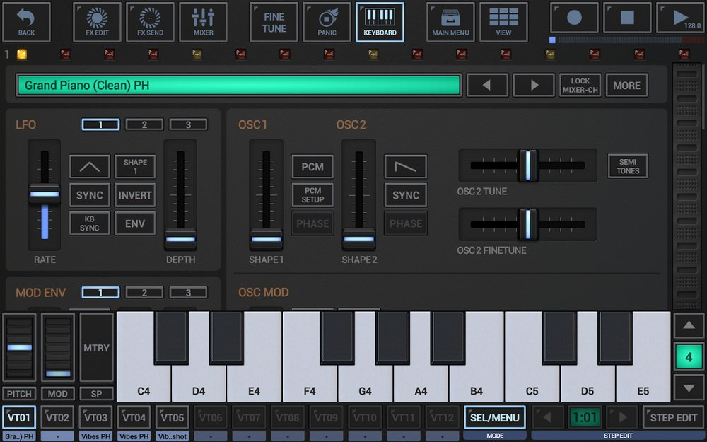 Скриншот G Stomper Studio для Android