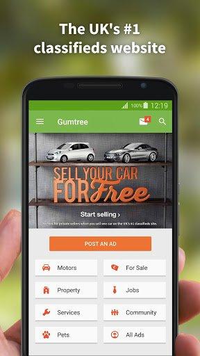 Скриншот Gumtree для Android