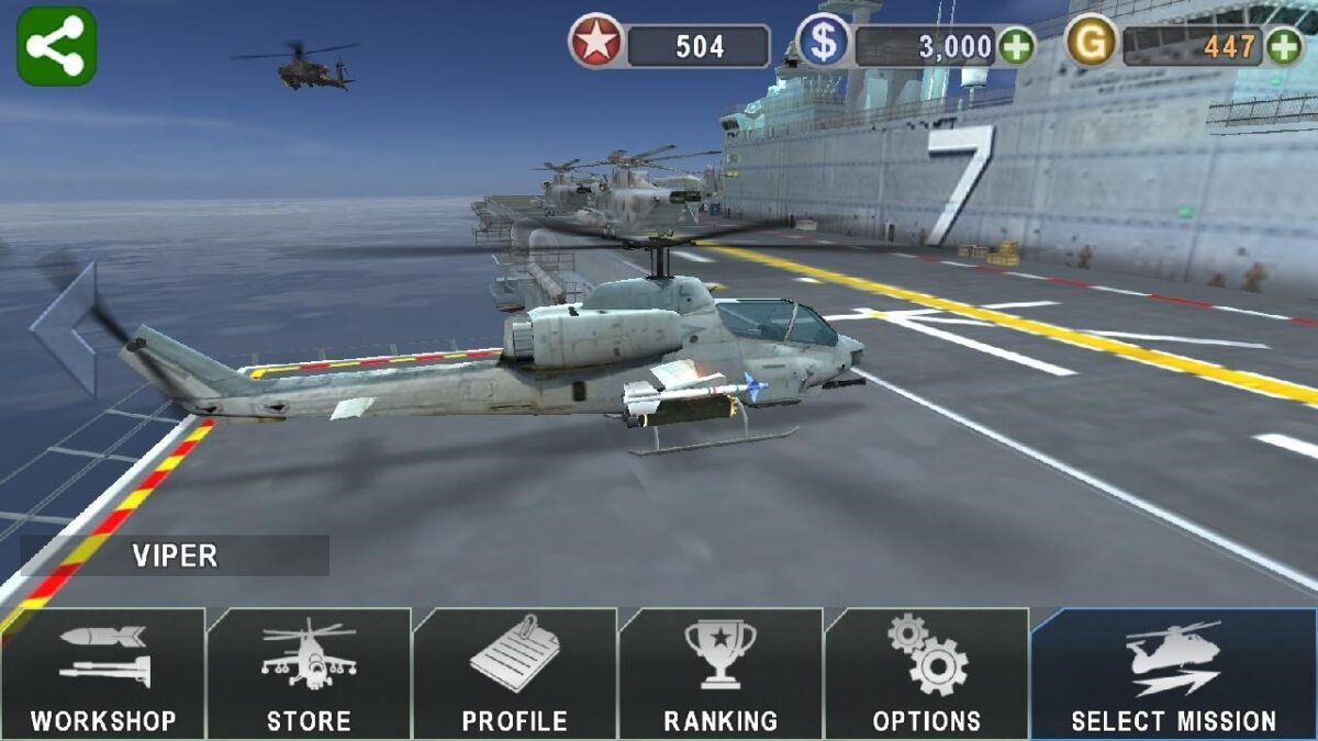 Скриншот Gunship Battle для Android