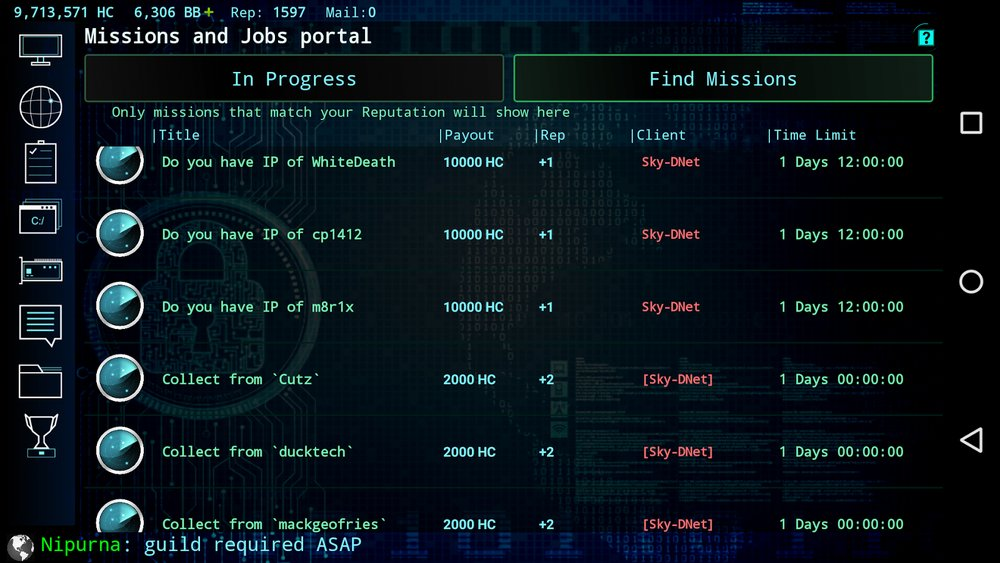 Скриншот Hackers: Hacking simulator для Android