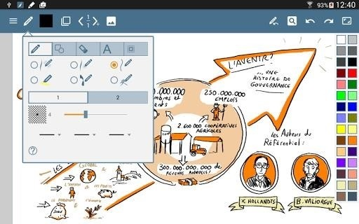 Скриншот HandWrite Pro Note Draw для Android