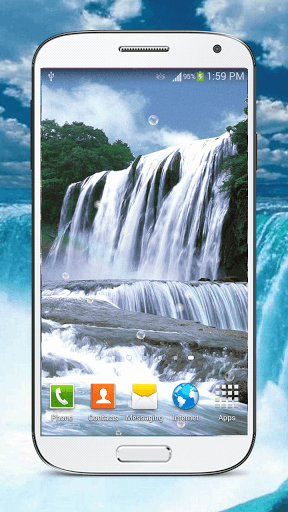 Скриншот HD Waterfall Live Wallpaper для Android