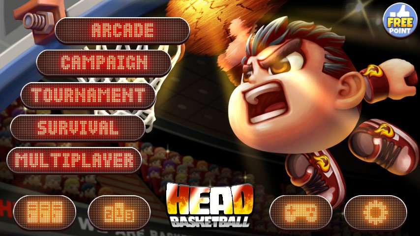 Скриншот Head Basketball для Android