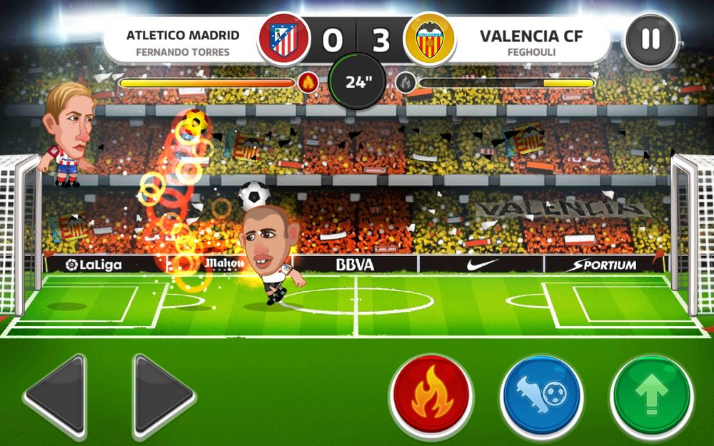 Скриншот Head Soccer для Android