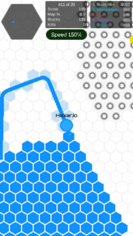 Скриншот Hexar.io для Android