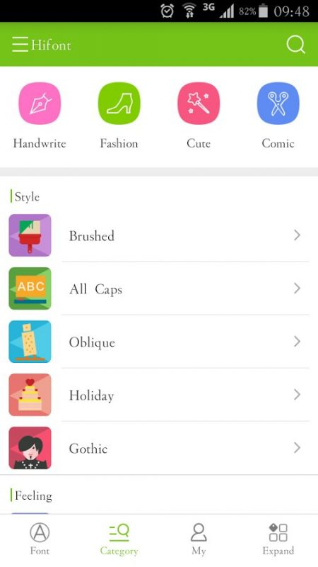 Скриншот HiFont для Android