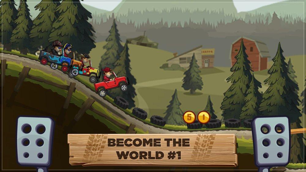 Скриншот Hill Climb Racing 2 для Android