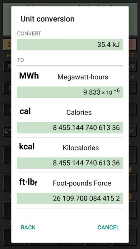 Скриншот HiPER Calc Pro для Android