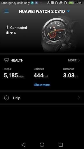 Скриншот Huawei Wear для Android