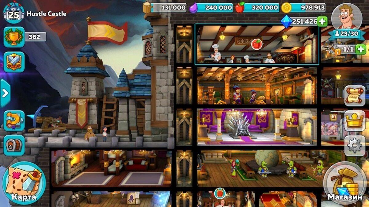 Скриншот Hustle Castle Fantasy Kingdom для Android