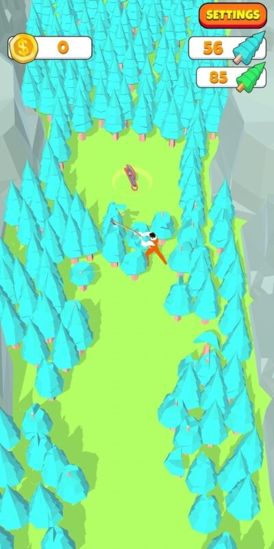 Скриншот Idle Lumberjack для Android