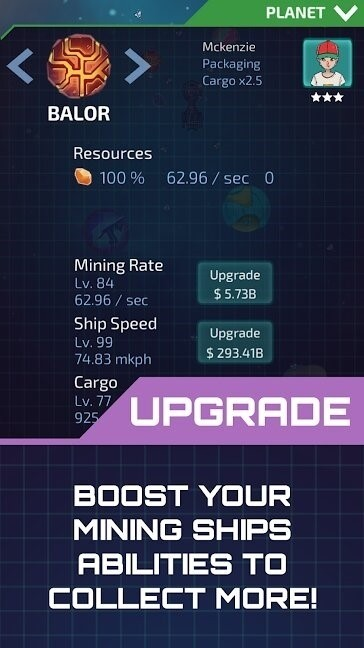 Скриншот Idle Planet Miner для Android