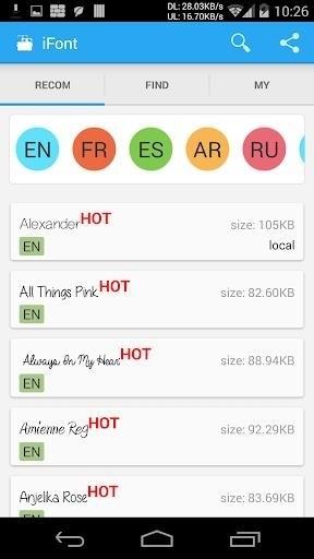 Скриншот iFont (Expert of Fonts) для Android