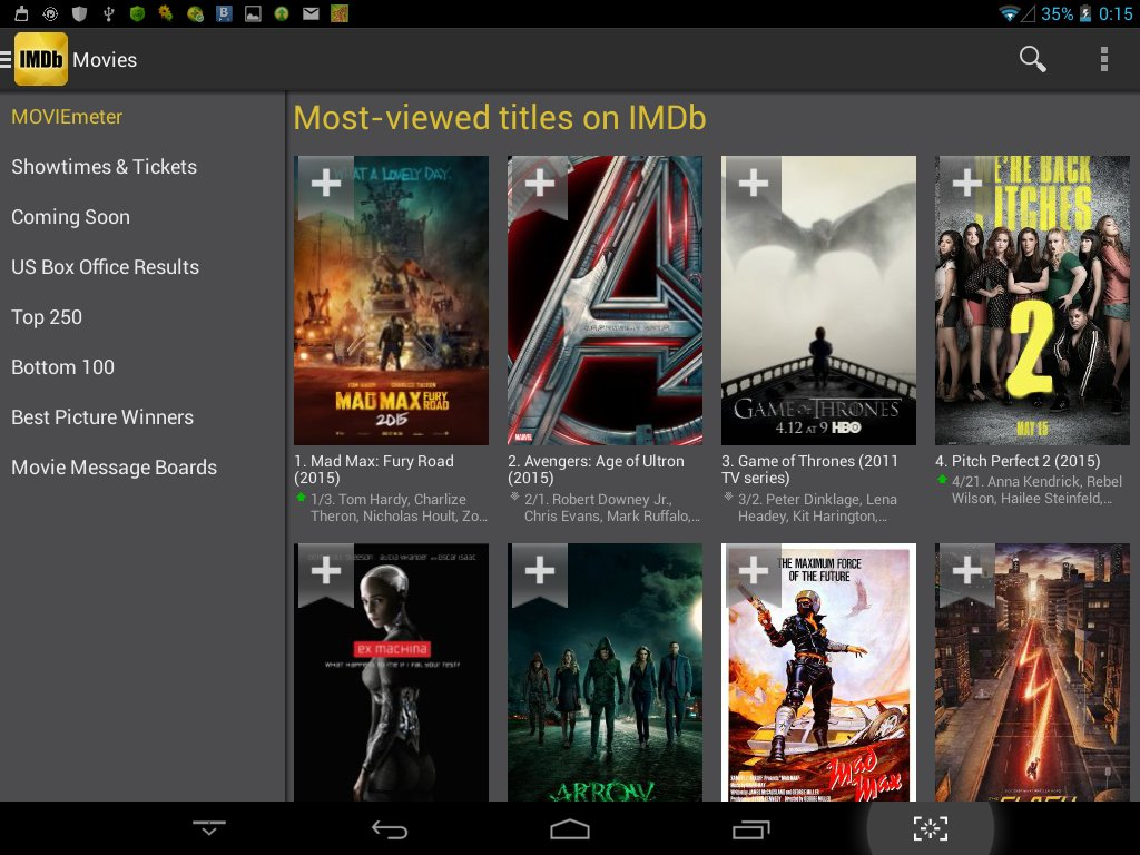 Скриншот IMDb Movies TV для Android