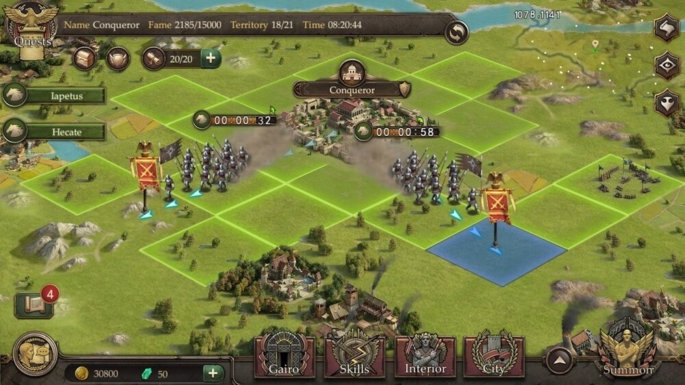 Скриншот Immortal Conquest для Android