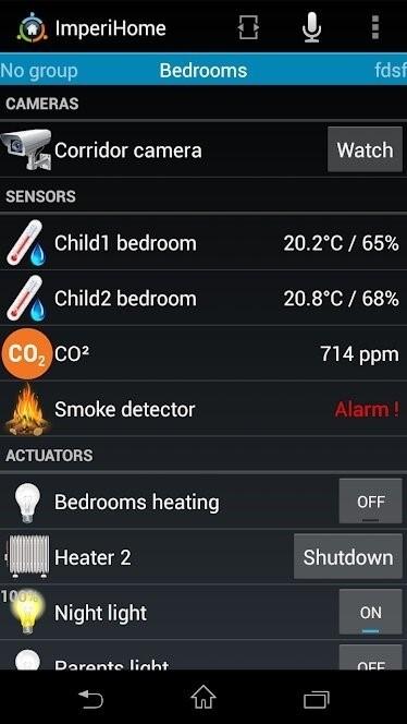 Скриншот ImperiHome для Android